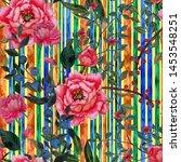 watercolor seamless pattern...   Shutterstock . vector #1453548251