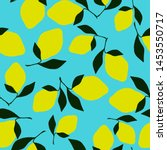 a simple lemon pattern. bright... | Shutterstock .eps vector #1453550717