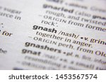 Small photo of Word or phrase Gnash in a dictionary
