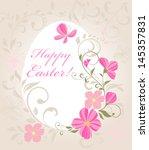 easter beautiful card. raster... | Shutterstock . vector #145357831