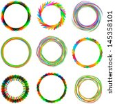 set of colorful circles ... | Shutterstock .eps vector #145358101