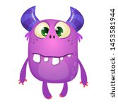 funny silly cartoon monster... | Shutterstock . vector #1453581944