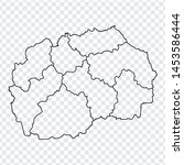 blank map north macedonia. high ...