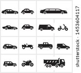 vector transportation icons... | Shutterstock .eps vector #1453604117