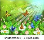 butterflies landscape   Shutterstock .eps vector #145361881