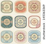 vintage labels  retro design | Shutterstock .eps vector #145363369