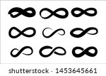 hand drawn infinity set .... | Shutterstock .eps vector #1453645661