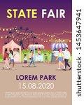 state fair brochure template.... | Shutterstock .eps vector #1453647941