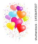 group of nine colorful heart... | Shutterstock .eps vector #1453649207