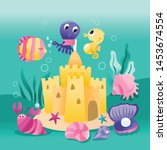 a cartoon vector illustration... | Shutterstock .eps vector #1453674554