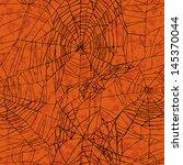 Stock photo orange seamless halloween pattern 145370044