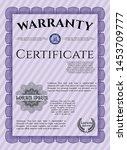 violet retro warranty template. ... | Shutterstock .eps vector #1453709777