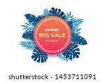 summer sale banner template....   Shutterstock .eps vector #1453711091