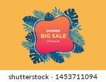 summer sale banner template....   Shutterstock .eps vector #1453711094