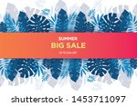 summer sale banner template....   Shutterstock .eps vector #1453711097