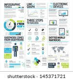 big set of infographic elements ... | Shutterstock .eps vector #145371721