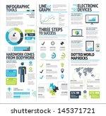 big set of infographic elements ... | Shutterstock .eps vector #145371721