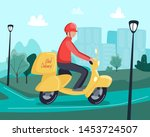 food delivery concept. man... | Shutterstock .eps vector #1453724507