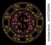 bright mesh dollar casino chip... | Shutterstock .eps vector #1453753094