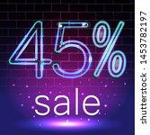 forty five percent discount... | Shutterstock .eps vector #1453782197