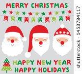 Santa Claus Faces And Christmas ...