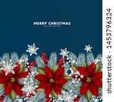 christmas party invitation red...   Shutterstock .eps vector #1453796324