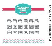 set of hand drawn calendar icons