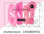 vector sale banner with text on ... | Shutterstock .eps vector #1453800551