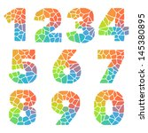 vector alphabet mosaic colorful ... | Shutterstock .eps vector #145380895