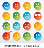 Set Of Faces With Various...