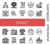 set of family icons such as... | Shutterstock .eps vector #1453813691