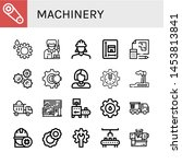 set of machinery icons such as... | Shutterstock .eps vector #1453813841