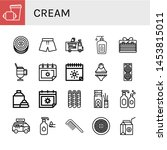 set of cream icons such as... | Shutterstock .eps vector #1453815011