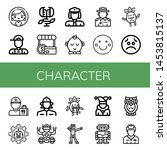 set of character icons such as... | Shutterstock .eps vector #1453815137