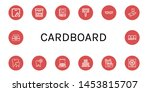 set of cardboard icons such as... | Shutterstock .eps vector #1453815707
