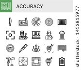 set of accuracy icons such as... | Shutterstock .eps vector #1453815977
