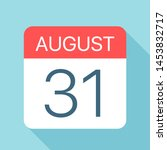 august 31   calendar icon  ... | Shutterstock .eps vector #1453832717