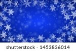 christmas background of complex ... | Shutterstock .eps vector #1453836014