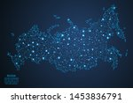 a map of russia consisting of... | Shutterstock .eps vector #1453836791