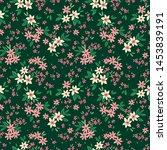 vintage floral background.... | Shutterstock .eps vector #1453839191