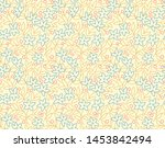 elegant floral pattern in small ... | Shutterstock .eps vector #1453842494