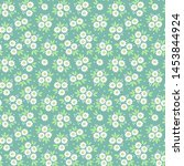 vintage floral background.... | Shutterstock .eps vector #1453844924
