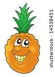 smiling orange pineapple  ... | Shutterstock . vector #14538451