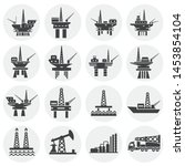oil rig related icons set on...   Shutterstock .eps vector #1453854104