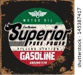 vintage gasoline   motor oil  ... | Shutterstock .eps vector #145387417