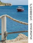 ropes around wooden restaurant...   Shutterstock . vector #1453883471