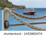 ropes around wooden restaurant...   Shutterstock . vector #1453883474