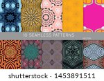 collection of seamless patterns.... | Shutterstock .eps vector #1453891511