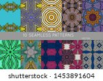 collection of seamless patterns.... | Shutterstock .eps vector #1453891604