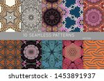 collection of seamless patterns.... | Shutterstock .eps vector #1453891937